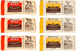 ETTA SAYS! Deli Sausage Link Meat Treats for Dogs – Pack of 6 – Made in The USA, Human Grade, No Added Hormones, No Nitrat...