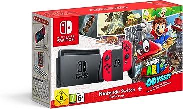 Nintendo Switch - Red with Super Mario Odyssey code [Importación inglesa]