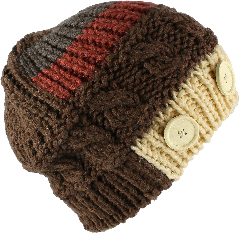 Morehats Multi Color Stripe Corduroy Knit Slouchy Handmade Beanie Winter Ski Warm Hat