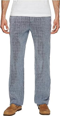 Beach Linen Elastic Waist Pants