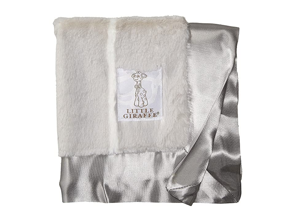 Little Giraffe Luxe Pinstripe Blanky (Silver) Accessories Travel