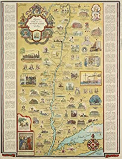 VintPrint Map Poster - Romance map of The Hudson River Valley 18