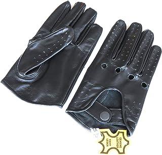 Para hombre Classic piel auténtica sin forro negro suave piel verano guantes de moto, guantes de ciclismo, guantes de conducción. negro M