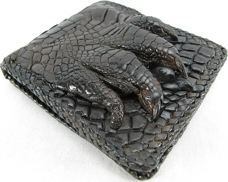 PELGIO Genuine Crocodile Alligator Foot Claw Skin Leather Handmade Wallet