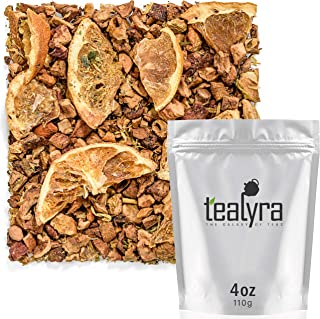 Tealyra - Eau De Mandarine - Orange - Strawberry Leaves - Herbal Fruity Loose Leaf Tea - Hot or Iced - Caffeine Free - 112g (4-ounce)