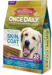The Missing Link Once Daily Skin & Coat Superfood Dental Chew - Large Dog
