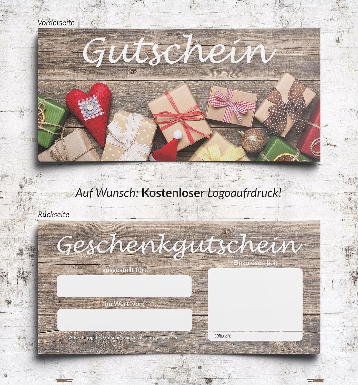 Premium Geschenkgutschein Weihnachten Gutschein Geschenk Geschenk Geschenk (100) B0779G1KFR | Ausgewählte Materialien  5d6ef3