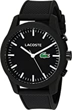 Lacoste Men's '12.12-TECH' Quartz Plastic and Rubber Smart Watch, Color:Black (Model: 2010881)
