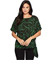 MICHAEL Michael Kors Abstract Palm Tie Top
