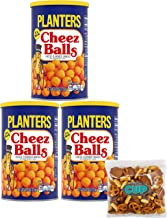 By The Cup Snack Pack - Planters Cheez Balls 2.75 Ounce Canister (Pack of 3) - with By The Cup Snack Mix
