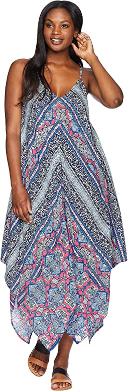 Riviera Tile Scarf Dress Cover-Up