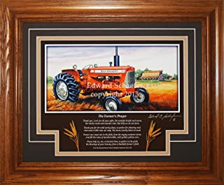 American Memory Prints Art by Ed Schaefer Allis Chalmers Model D17 1957-1967 with The Poem (The Farmer's Prayer) Allis Chalmers Tractor Pictures Art Gift for Dad