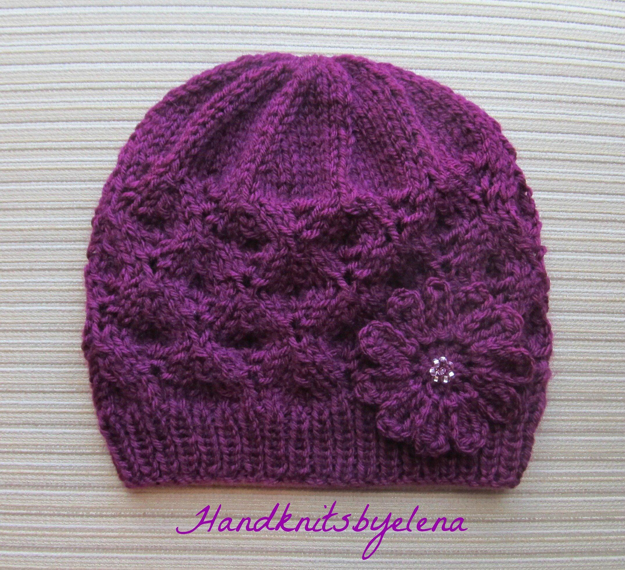 Knit Hat Patterns Straight Needles | 1000 Free Patterns