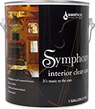 product image for Sashco SYM-1-SA Satin Symphony Interior Clear Coat, 1 gal Can