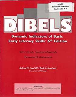 Dibels Dynamic Indicators of Basic Early Literacy Skills 6th Edition, First Grade Student Materials Benchmark Assessment ISBN 9781570358845, 1570358842