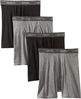 Hanes Ultimate Men's 4-Pack FreshIQ Tagless Cotton Boxer with ComfortFlex Waistband Briefs