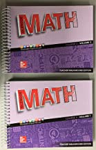 Glencoe Math 2016, Course 3 Teacher Edition, Volume 1 ISBN-10: 0076683699 ISBN-13: 9780076683697