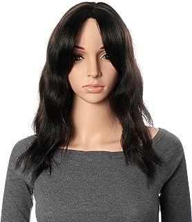OneDor 19 Inch Full Head Wavy Kanekalon Black Auburn Highlight Hair Wig Extensions (F1B/33)