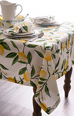 DII Round Cotton Tablecloth for Autumn Thanksgiving, Catering Events, Dinner Parties, Special Occasions or Everyday Use, 70&#