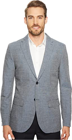 Slim Fit End-on-End Linen Suit Jacket