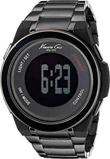 Kenneth Cole New York Unisex 10023870 KC Connect- Technology Digital Display Japanese Quartz Black Watch