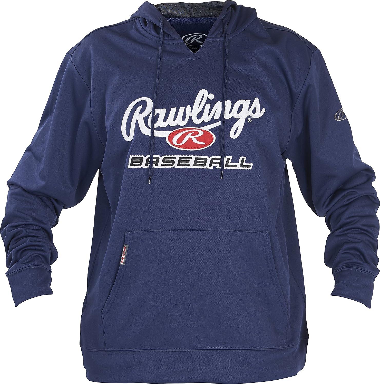 Rawlings Unisex Youth Fleece Baseball Hoodie