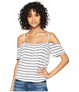 Keagan Cold Shoulder Striped Top