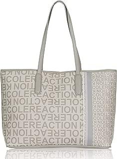 Kenneth Cole Reaction Striper Logo Printed Tote Handbag