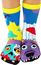 Werewolf & Zombie Monster Halloween Collectible Mismatched Socks for Kids Boys Girls