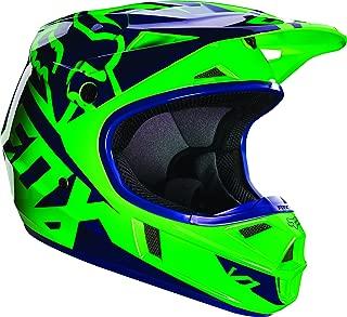 Fox Racing Race Youth V1 Motocross Motorcycle Helmet - Flo Green / Large