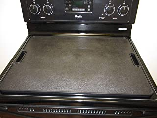 More Counter Space Stove Top Stove Burner Covers | Countertop 19x27 Large Cutting Board Kitchen Accessories for More Kitchen Space | Sturdy & Easy to Clean Serving Tray with Handles (Black Legless)