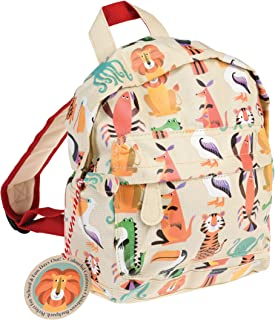 Rex London Colourful Creature Mini Backpack - Animal Lover Bags - Padded Kids Bag with Adjustable Straps for Comfort - Boo...