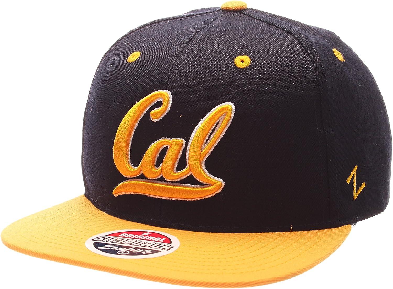 California golden Bears Z11  32 5 Adjustable Snapback Cap - NCAA Cal Flat Bill Zephyr Baseball Hat