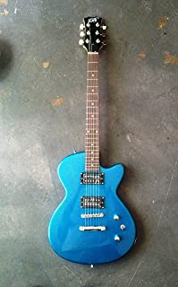 Glen Burton Single Cutaway Electric Guitar- Atomic Blue Metallic Sparkle- With Free AAA Musical