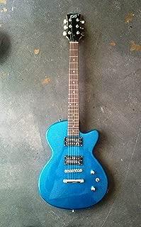 Glen Burton Single Cutaway Electric Guitar- Atomic Blue Metallic Sparkle- With Free AAA Musical Gig Bag