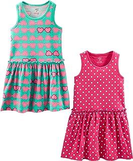Girls' 2-Pack Short-Sleeve and Sleeveless Dress Sets