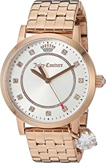 Juicy Couture Womens Analog Quartz Watch with Rose-Gold Strap 1901476