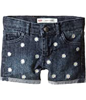 Levi's® Kids - Embroidery Shorty Shorts (Toddler)