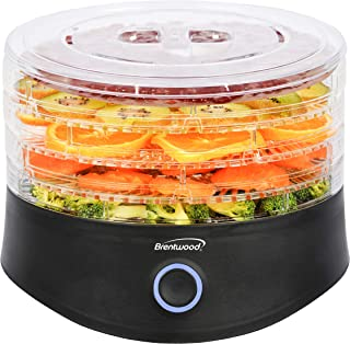 Brentwood Appliances FD1026BK 5-Tray Food Dehydrator with Auto Shutoff, Black