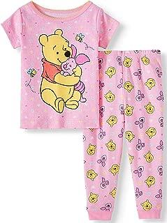 Winnie The Pooh Cotton Toddler Girls Pajamas, 2pc Set (18 Months) Pink
