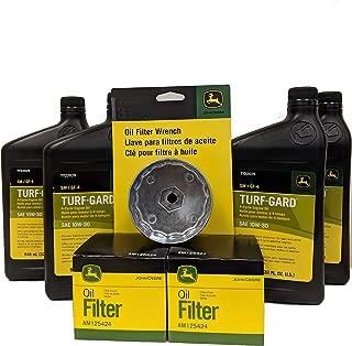 John Deere Double Oil Change Kit Including Oil Filter Wrench - (4) TY22029 + (2) AM125424 +TY26640