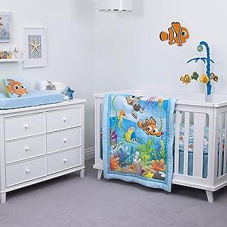 Disney Nemo 3-Piece Nursery Crib Bedding Set, Aqua/Green/Orange/Yellow