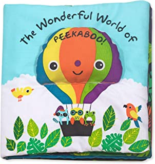 Melissa & Doug Soft Activity Book – The Wonderful World of Peekaboo, Developmental Toys, Interactive Cloth Lift-the-Flap...