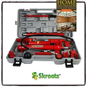 Amazon Com 4 Ton Porta Power Hydraulic Jack Body Frame Repair Kit Auto Shop Tool Heavy Set By Skroutz Home Improvement