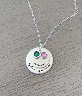 Personalized Jewelry // Necklace for Nana or Grandma with Grandkids Names // Hand Stamped Jewelry