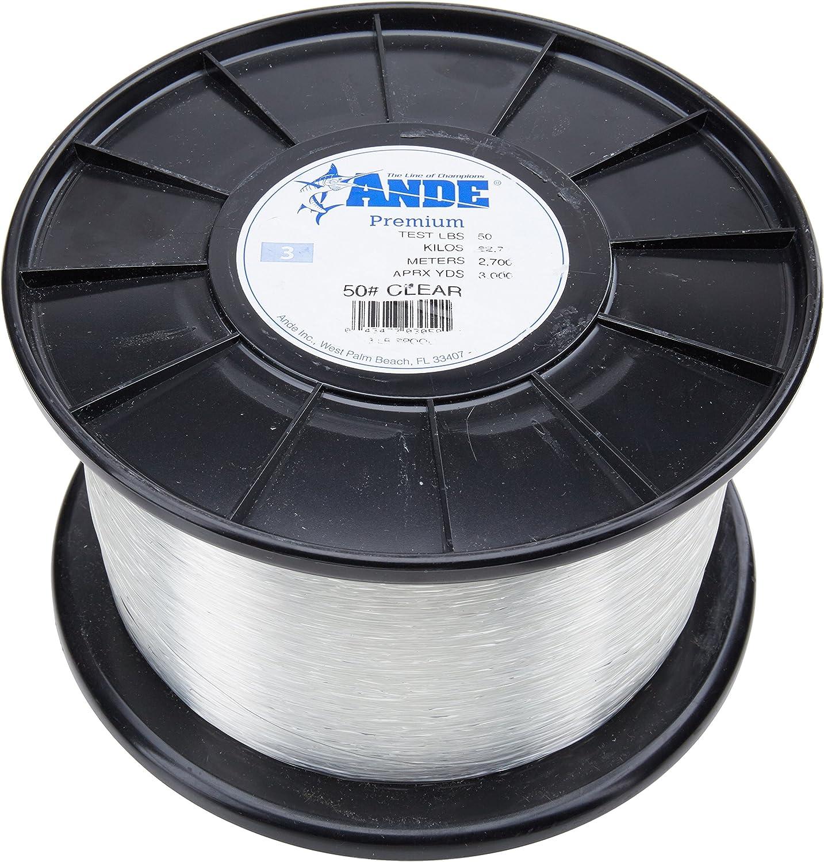 Ande Premium-Monofilament-Line, 454 g Spule, 50-Pound Test, Klar Finish B003CULQKI  Mangelware