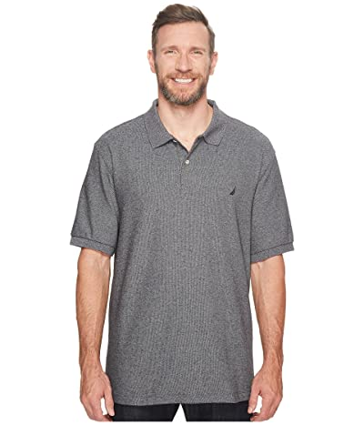 Nautica Big & Tall Big Tall Anchor Solid Deck Shirt (Charcoal Heather) Men