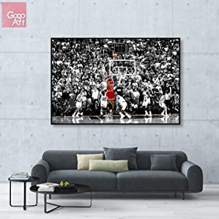 GoGoArt ROLL Canvas print wall art home decor picture photo big poster abstract modern (no framed no stretched not oil painting) 1998 Michael Jordan Last Shot nba sport Chicago bulls mvp A-0015-1.5