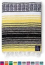 Mexican Blanket, Premium Falsa Blanket   Authentic Hand Woven Blanket, Serape & Yoga Blanket   Perfect Beach Blanket, Navajo Blanket, Camping Blanket, Picnic Blanket, Saddle Blanket, Car Blanket