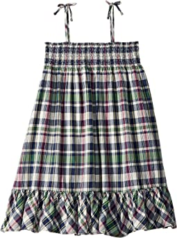 Cotton Madras Dress (Little Kids)